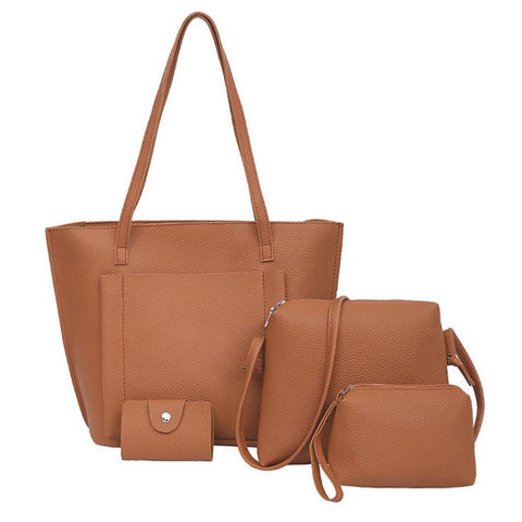 Xiniu Women Bags Set 4 Pcs Tote Leather Women Bag Small Crossbody Bags Bolsa Feminina