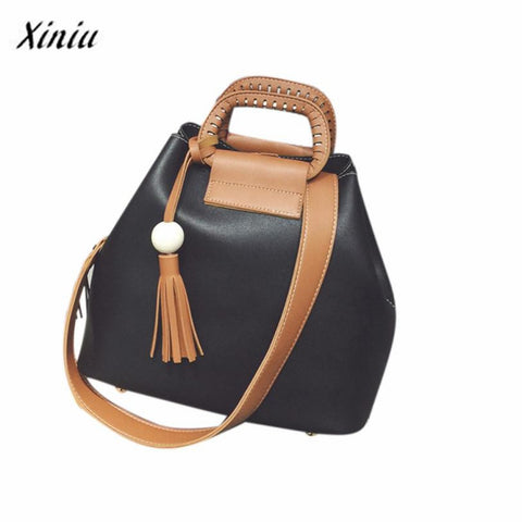 Xiniu Handbags Fashion Ladies Shoulder Bag Tassel Casual Large Capacity Hobos Tote  Crossbody Bag