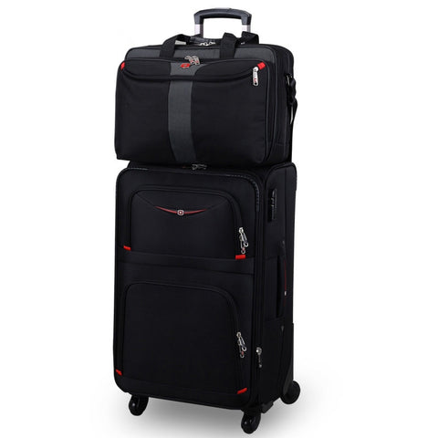 18 20 22 24 26 28Inches Picture Commercial Trolley Luggage Sets On Universal Wheels With 15Inch