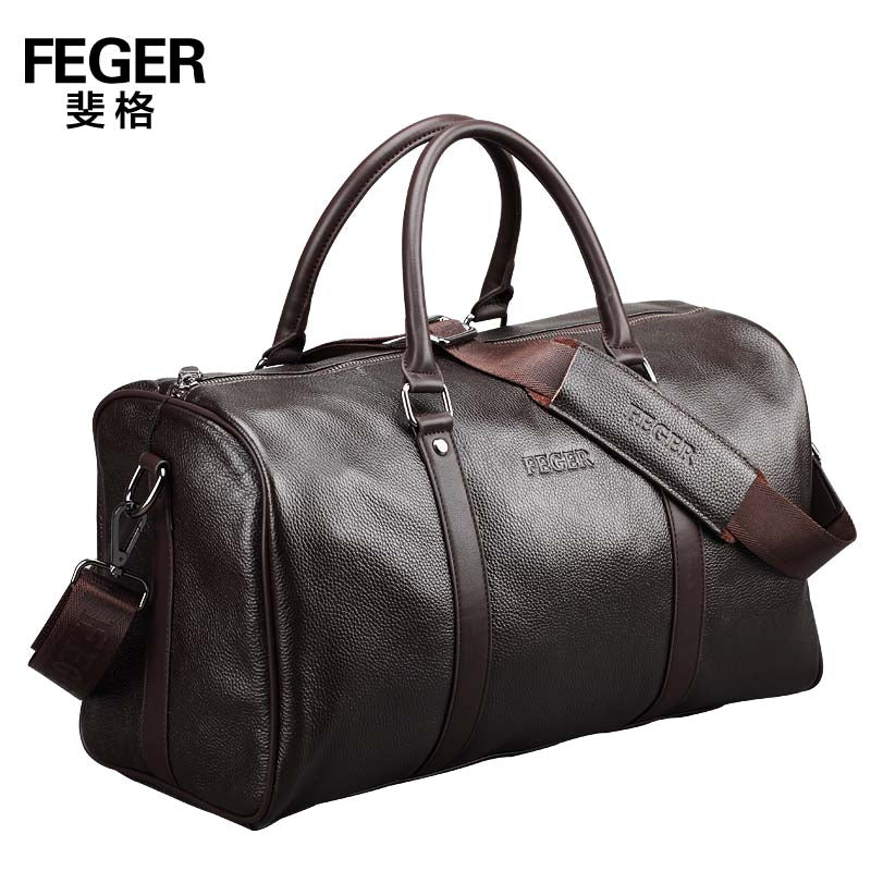 Free Shipping New 2017 Brand Genuine Leather Portable Men Travel Bags Travel Duffle Shoulder Bag