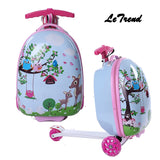 Letrend Kids Rolling Luggage Casters Wheels Suitcase For Children Trolley Student Travel Duffle