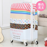 Letrend British Style Student Rolling Luggage Spinner Women Trolley Suitcase Wheels 20 Inch Carry