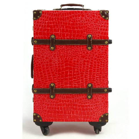 Fashion Travel Bag Trolley Luggage Male Women'S Handbag Suitcase Luggage14 20 22 24Red Married