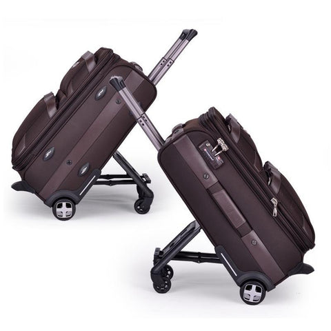 Letrend Multifun Men Business Rolling Luggage Casters Travel Duffle Wheel Suitcase Oxford Trolley