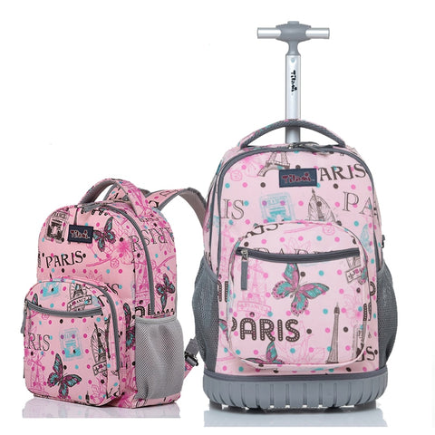 Letrend Student Travel Duffle  Rolling Luggage Set Cute Cartoon Carry On Trolley Children Cabin