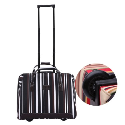 Letrend Ultra-Light Hand Oxford Travel Bag Spinner Rolling Luggage Women Suitcase Wheels Computer
