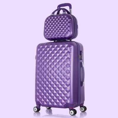 Korea Fashion 14 24Inches Abs+Pc Travel Luggage Bags Sets On 8-Universal Wheels,Girl Candy Color