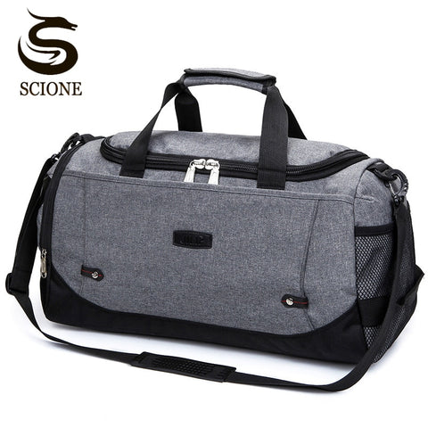 Scione Nylon Travel Bag Large Capacity Men Hand Luggage Travel Duffle Bags Nylon Weekend Bags Women