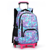 2017 Removable Children School Bags Teenager Boys Girls 3 Wheels Backpack Stairs Kids Trolley