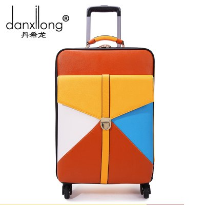Travel Bag Trolley Luggage Wheels Female Universal Colorant Match 16 18 20 22 24 Luggage Box