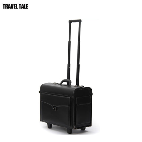 Travel Tale 19 Inch Black Business Reisekoffer Suitcase Box Cabin Luggage On Wheels