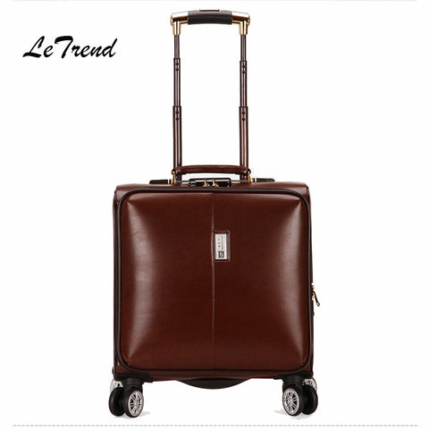 Letrend Business Rolling Luggage Spinner Cabin Trolley Bag 18 Inch Wonmen Carry On Suitcases Wheels