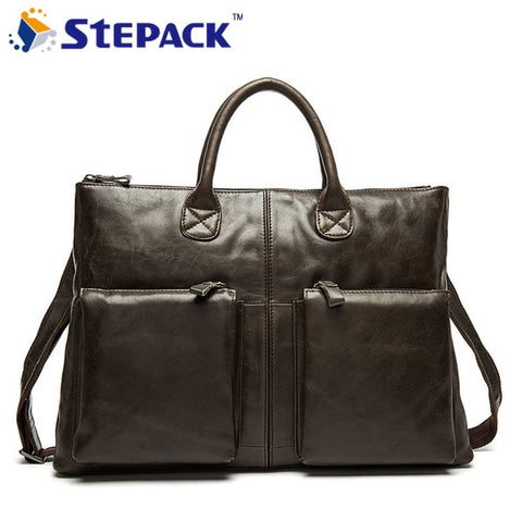 2017 New Arrival Briefcase Handbag Tote Leather Business Briefcase Bags Leather Bag Men Genuine