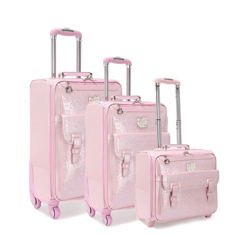 Fashion Luggage Female Small Fresh 16 20 Suitcase Universal Wheels Trolley Luggage Travel 24 Soft