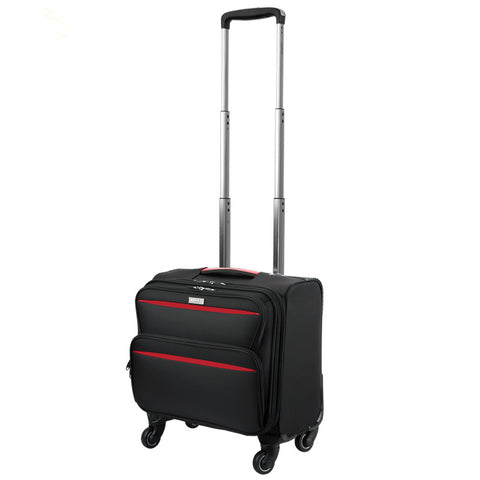 High Quality 16 18Inches Waterproof Nylon Commercial Trolley Luggage Bag On Universal