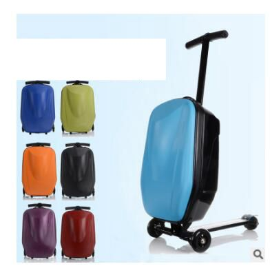 Skateboard Rolling Luggage 20 Inch Travel Luggage Case Scooter Case Cabin Luggage Suitcase Micro