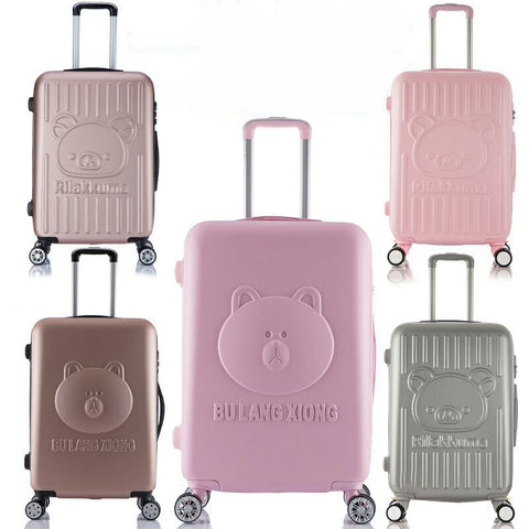 Lovely 14Inch Cosmetic Bag Children Women 20 24 Inches Girl Students Trolley Case Travel Luggage