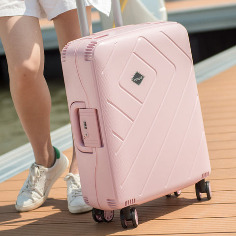 New 20'24'28' Women Luggage Tsa Lock Travel Case Trolley Girls Rolling Luggage Pp Trolley Travel