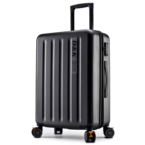 New Aluminum Rod Zipper Luggage, Pc Shell & Metal Drawbar Rolling Luggage Bag Trolley Case Travel