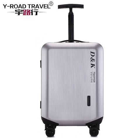 20'24'28' Zipper Luggage, Pc Shell & Metal Drawbar Rolling Luggage Bag Trolley Case Travel Suitcase