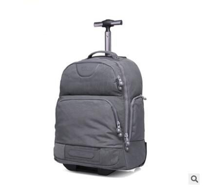 Double Use Travel Boarding Bag On Wheels Trolley Travel Cabin Luggage Suitcase Nylon Wheeled Travel