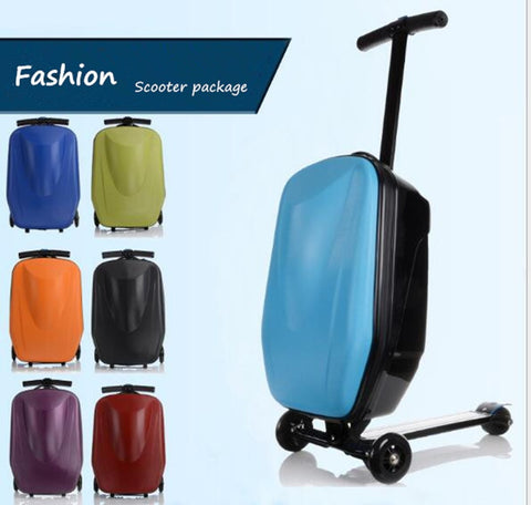 New Designe Child Scooter Luggage Suitcase With Wheels Skateboard Carry Ons Luggage Travel