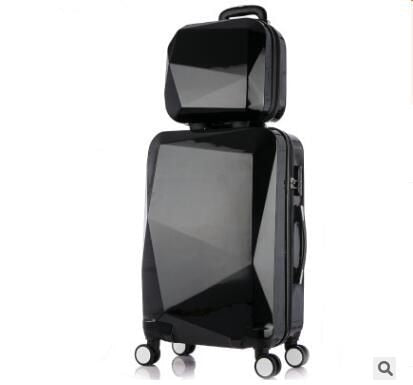 "20""24"" Inch Women Travel Luggage Trolley Suitcase Luxury Brand Boarding Case Rolling Luggage Case"