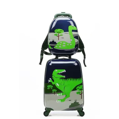 Letrend Cute Dinossauro Rolling Luggage Set Spinner Kids Trolley Children Suitcase Wheels 18 Inch