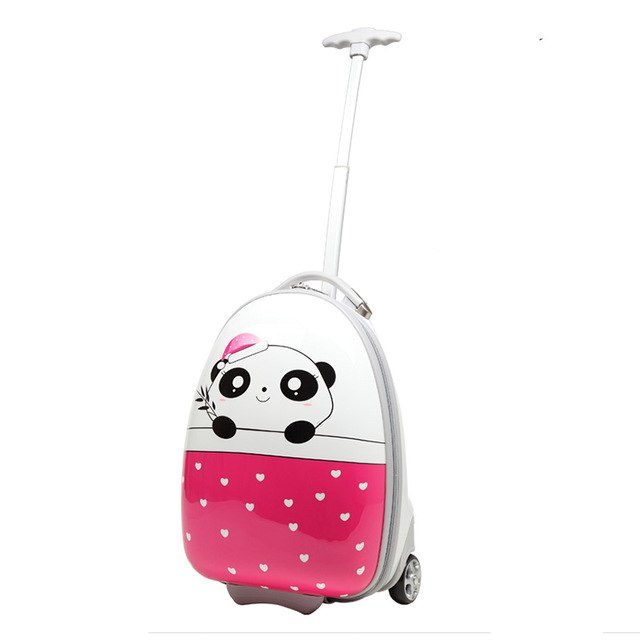 Letrend Kids Rolling Luggage Spinner Wheel Suitcases For Children Cute Cartoon Trolley Travel