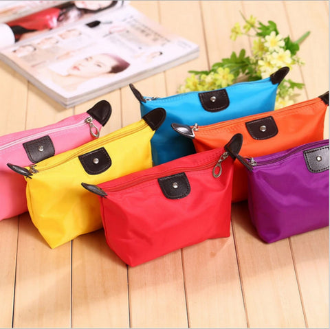 Women Travel Toiletry Make Up Cosmetic Pouch Bag Clutch Handbag Purses Case Cosmetic Bag For