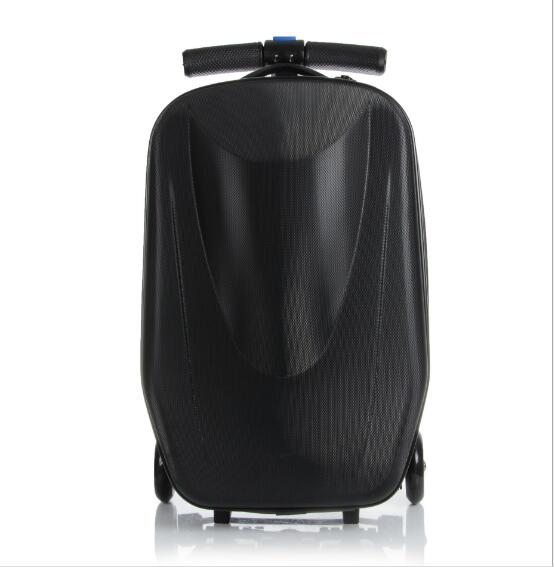 Child Scooter Luggage Suitcase With Wheels Skateboard Carry Ons Kids Luggage Travel Trolley Case