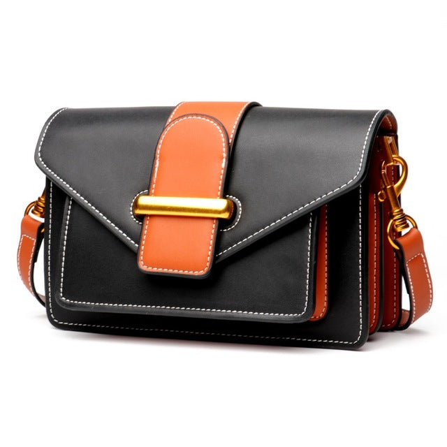 Sunny Shop Luxury Handbags Women Bags Designer Genuine Leather Women Messenger Bag Small