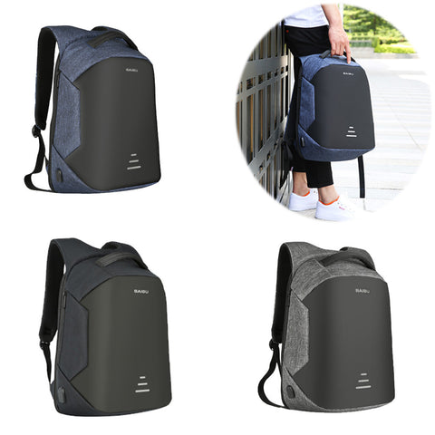 Men'S Waterproof Charging Backpack Business Satchel Bag Large Capacity Laptop Backpack With Usb