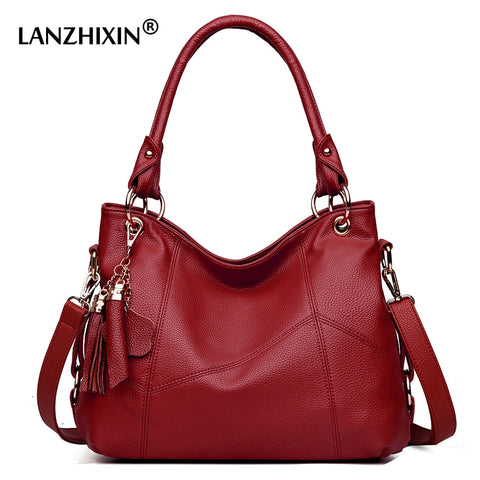 Lanzhixin Women Leather Handbags Women Messenger Bags Designer Crossbody Bag Women Tote Shoulder