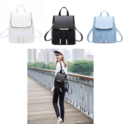 Fashion Shoulder Bag Pu Leather Women Girls Ladies Backpack Travel Bag