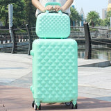 Trolley Luggage Picture Box Travel Bag Luggage Universal Wheels Female14 20 24  28 Sets,High