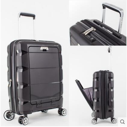 20Inch 24 Inch Computer Suitcase Rolling Luggage Hardside Spinner Trolley Bag Pp Material Travel
