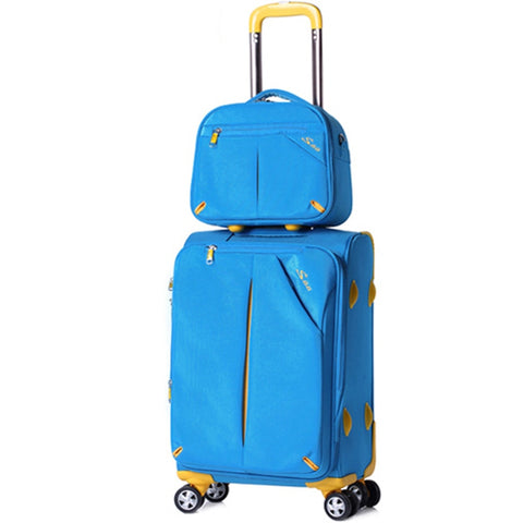 Wholesale!12 20 24 28Inches High Quality Oxford Fabric Soft Case Trolley Luggage Sets On