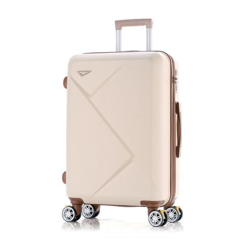 Wholesale!14 24Inches Pink/Green/Purple/Beige Abs Hardside Travel Luggage Bags On Universal