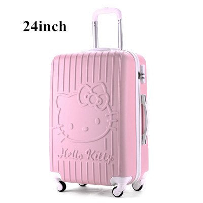 24 Inch,Travel Suitcases,Spinner Rolling Luggage Set,Hello Kitty Suitcase Set,Abs Luggage
