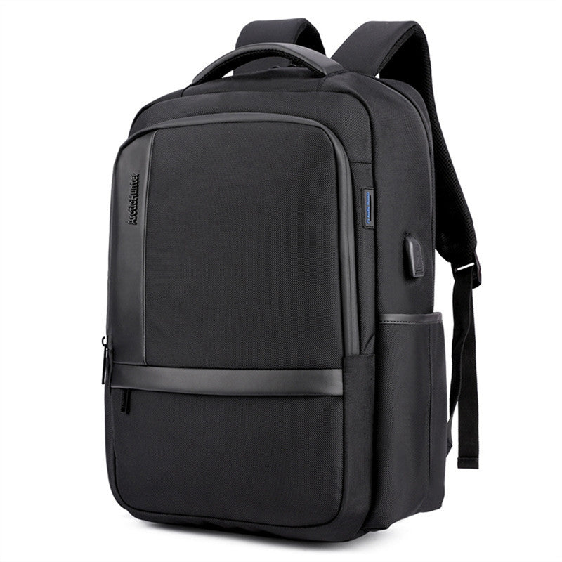 Men'S Business Charging Backpack  Waterproof Satchel Bag Large Capacity Laptop Backpack With Usb