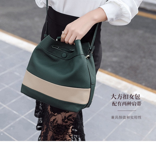 Top Quality Brand Designer 2017 Women'S Genuine Leather Vintage Single Shoulder Bag Women Crossbody
