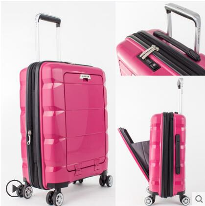 20 Inch Unisex Business Loptop Suitcase Rolling Luggage Spinner Trolley Travel Box Boarding Case