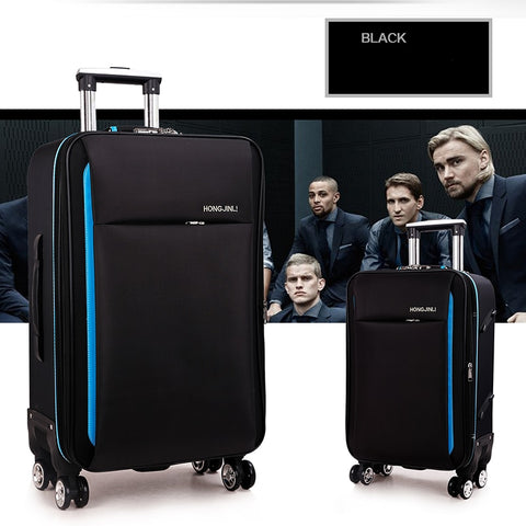 Letrend Oxford Rolling Luggage Spinner Men Password Travel Bag Women Suitcases Wheel Trolley