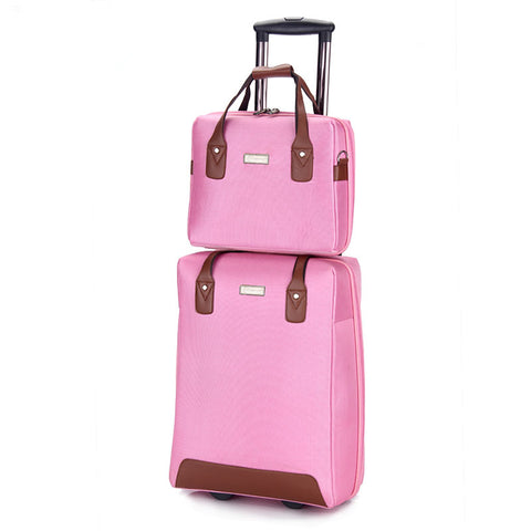 Wholesale!13 20Inches Nylon Travel Luggage Bags Set On Fixed Caster,Female&Male Mala De