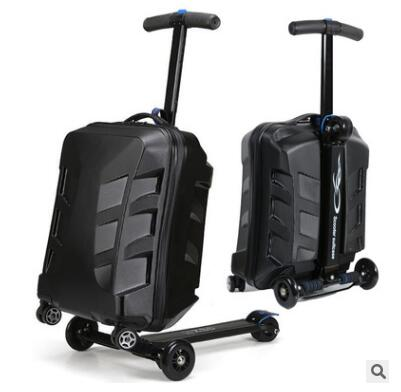 "Brand 21""Scooter Suitcase With Wheels Travel Luggage Case Micro Scooter Case Quality Skateboard"