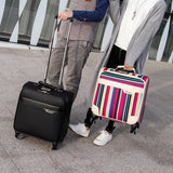 "Unisex Business Travel Rolling Luggage Spinner Wheels 18"" Inch Suitcase Airplane Clothing Carry"