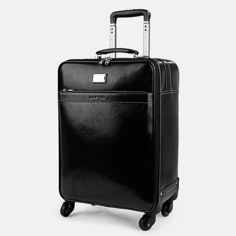 First Layer Of Cowhide Commercial Universal Wheels Trolley Luggage 16 18 20 22 Luggage Travel Bag
