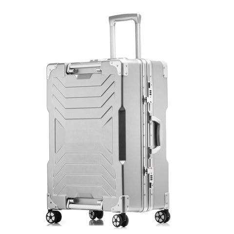 "Aluminum Frame+Pc Suitcase,20""24""28""Inch High-Quality Anticollision Rolling Luggage Tsa Lock Travel"