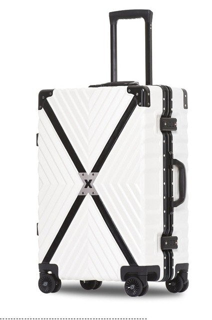 "Letrend Aluminum Frame+Pc+Abs Rolling Luggage, 20""24""26""29""Inch Crash Proof Truckle Suitcase,Castor"